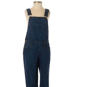 Boohoo fitted denim overalls sz 2